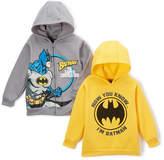 Children's Apparel Network Batman Hoodie & Yellow Bat Logo Zip-Up Hoodie - Kids