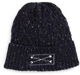BP Women's Slouchy Cable Knit Beanie - Blue