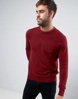 Paul Smith Crew Knit Sweater in Damson