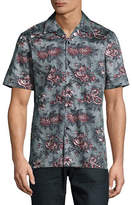 English Laundry Short Sleeve Rose Print Shirt