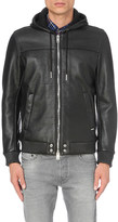 Diesel L-mecons leather bomber jacket