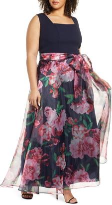 Eliza J Eliza Floral Print Gown