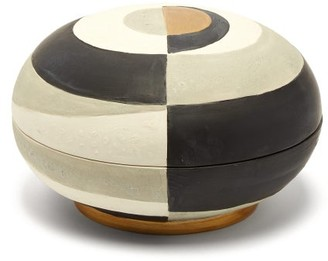 L'OBJET Lobjet - Cubisme Earthenware Box - Black White