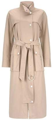 Mint Velvet Beige Long Belted Trench Coat