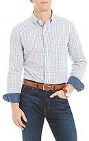 Daniel Cremieux Graph Basket Weave Long-Sleeve Woven Shirt