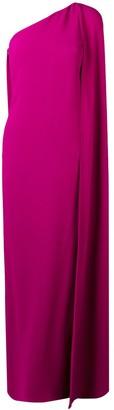 Stella McCartney one-shoulder evening dress