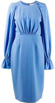 Roksanda Vanira balloon-sleeved midi dress