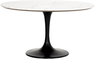 "One Kings Lane Ray 55"" Dining Table - White Marble"