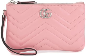 Gucci GG Marmont Small leather wrist wallet