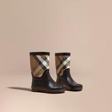Burberry Star Print House Check Rain Boots
