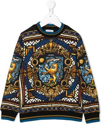 Dolce & Gabbana Kids Stained Glass Window-Print Sweatshirt