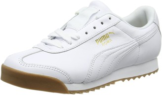 Puma Unisex Adults' Roma Classic Gum Low-Top Sneakers White Team Gold 12 UK 46 EU