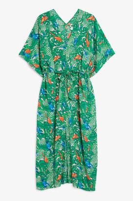 Monki Belted kaftan dress