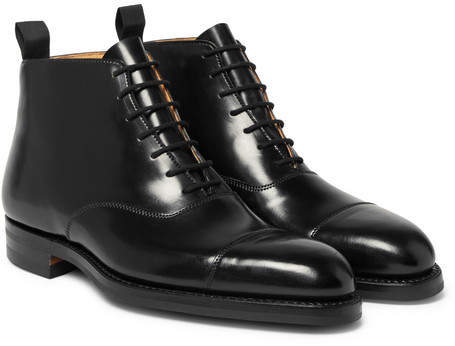c4749fccb89 William Cap-Toe Horween Shell Cordovan Leather Boots - Men - Black