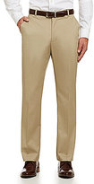 Perry Ellis Performance Luxe Tailored Fit Flat-Front Pants