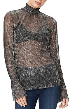 Habitual Esmee Mock Neck Shimmer Top