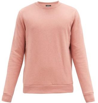 A.P.C. Capitol Cotton-blend Jersey Sweatshirt - Dark Pink