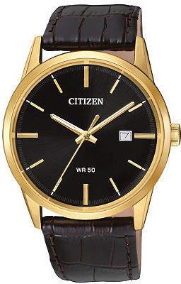 Citizen Quartz Mens Brown Leather Strap Watch-Bi5002-06e No Color Family