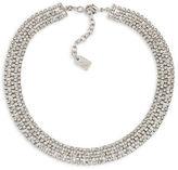 Lauren Ralph Lauren Silvertone Brass Choker Necklace