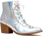 Y.R.U. YRU Shoes AURA Holographic Lace Up Ankle Boot Bootie