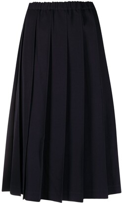 COMME DES GARÇONS GIRL Pleated High-Waist Wool Skirt