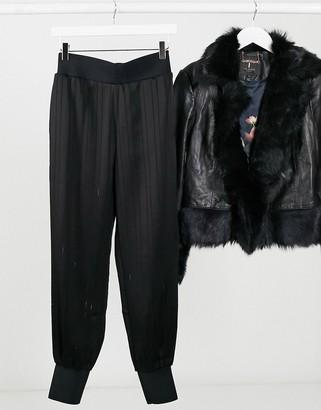 Ted Baker Natteah slim cuff joggers in black