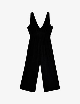 Topshop Felicity wide-leg linen-blend jumpsuit