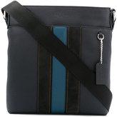 Coach striped shoulder bag