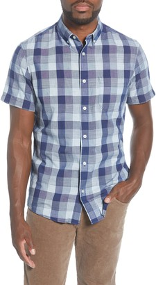 1901 Trim Fit Check Short Sleeve Button-Down Shirt