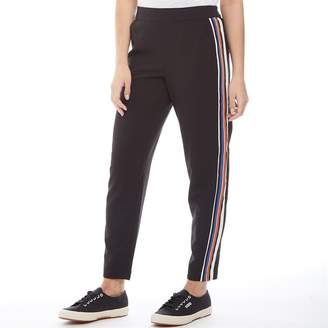 Only You Womens Roma Mid Waist Panel Detail Tailored Trousers Black/Multi Coloured