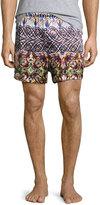 Robert Graham Silk Printed Boxer Shorts, Terracotta