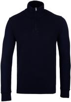 Boss Orange Kwemare Navy Funnel Neck Sweater