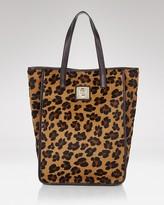 Leopard Print Top-Handle Tote