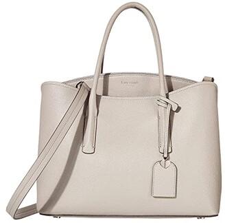 Kate Spade Margaux Large Satchel (True Taupe) Satchel Handbags