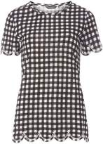 Dorothy Perkins **Tall Black Gingham Embroidered T-Shirt