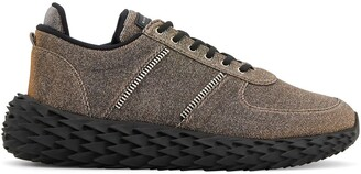 Giuseppe Zanotti Urchin metallized low-top sneakers