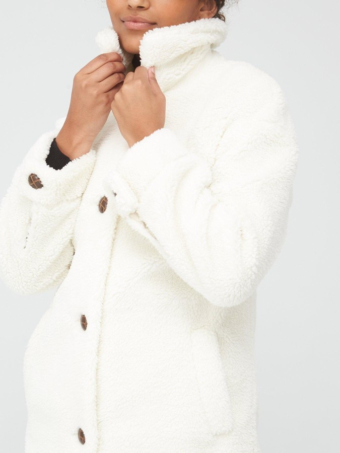 Thumbnail for your product : Very Teddy Faux Fur Coat - Ivory