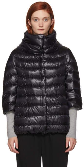 Herno Black Down Aminta Coat