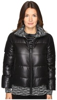 M Missoni Solid Puffer Coat w/ Spacedye Trim Women's Coat