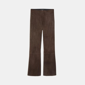 Theory Pull-On Kick Pant in Stretch Suede