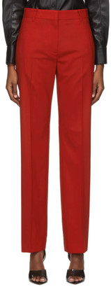 MSGM Red Wool Trousers