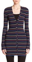 Alexander Wang Striped Wool Cardigan