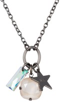 Nadia Minkoff Star Cluster Necklace Matt Gunmetal