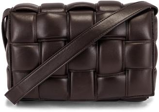 Bottega Veneta Padded Cassette Crossbody Bag in Fondente & Gold | FWRD