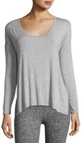 Beyond Yoga Side Piece Heathered Pullover Sweater, Light Gray