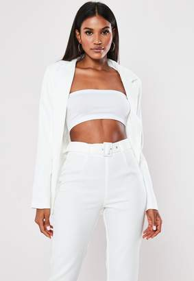 Missguided White Co Ord Boyfriend Blazer