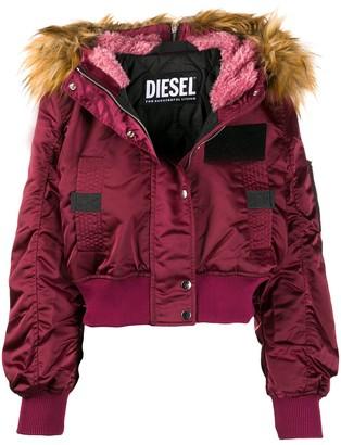 Diesel Fur-Trimmed Puffer Jacket