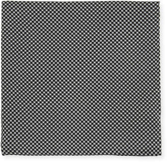 Neiman Marcus Men's Houndstooth Silk Pocket Square