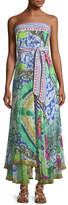 Camilla Strapless Multi-Wear Printed Silk Sarong/Dress Coverup, One Size