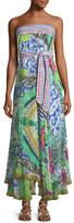 Camilla Strapless Multi-Wear Printed Silk Sarong/Dress Coverup